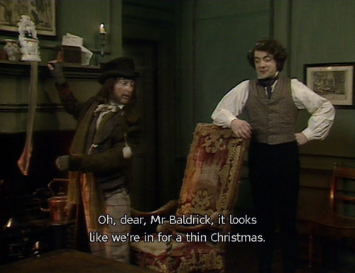 Look's like we're in for a thin Chriistmas Blackadder