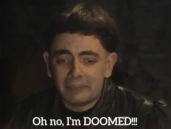 Blackadder doomed
