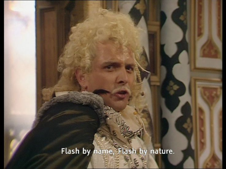 Flash by name, Flash by nature - Rik Mayall steals the scene in Blackadder series 2 episode 1