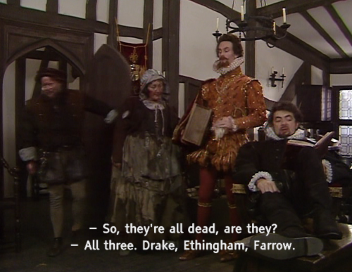 Blackadder as the efficient Lord executioner