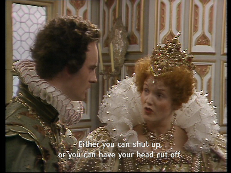 Shut up or have your head cut off Blackadder Chains