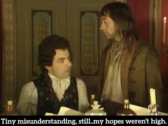 Blackadder a tiny misunderstanding
