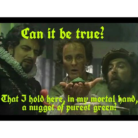 Percy creating purest Green on Blackadder