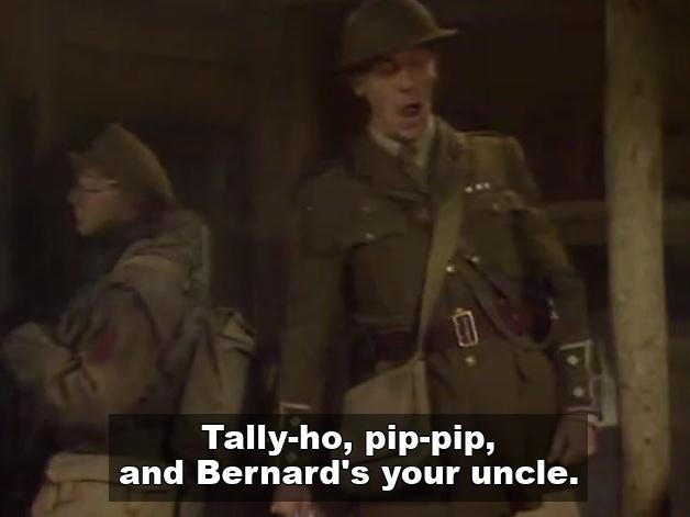 Tally ho, George from Blackadder
