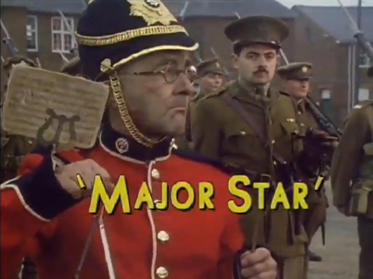 Read the full script for Blackadder Series 4 Episode 3 Major Star