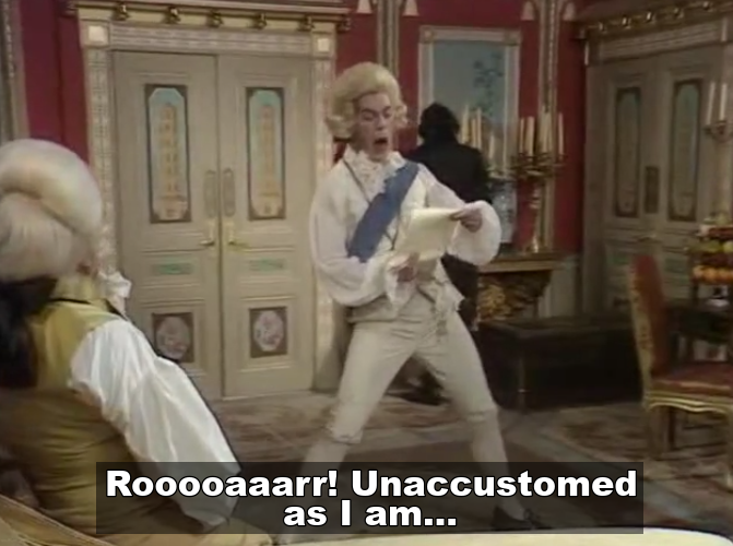 Roar with a fantastic pair of trousers in Blackadder