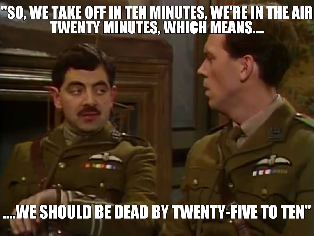 Blackadder joining the 20 minuters