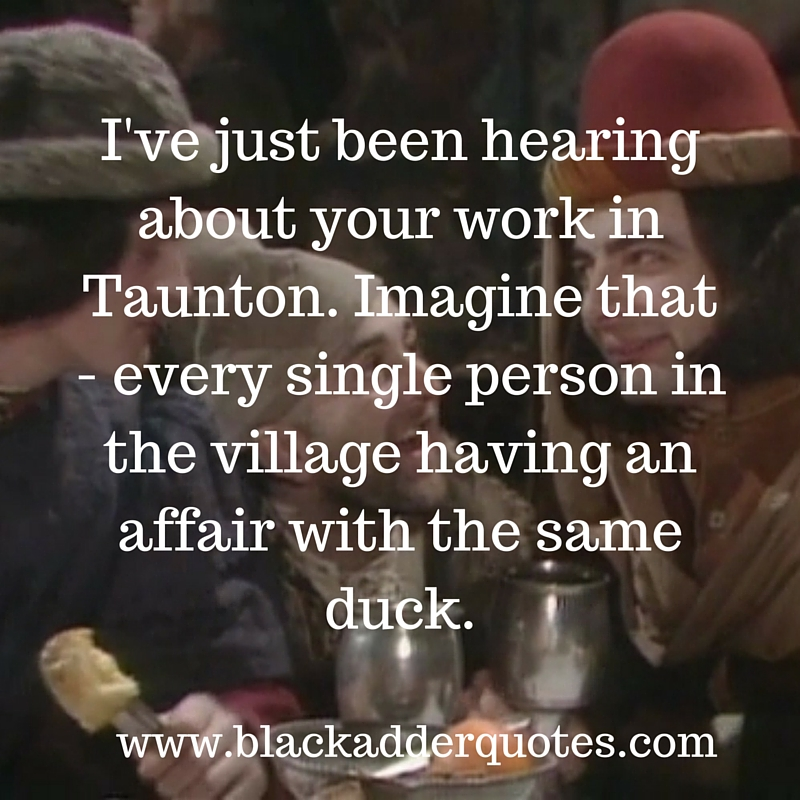 Blackadder Quotes Series 1 - Witchsmeller Pursuivant