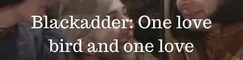 Look at the two love birds | Blackadder Series 1 Quotes
