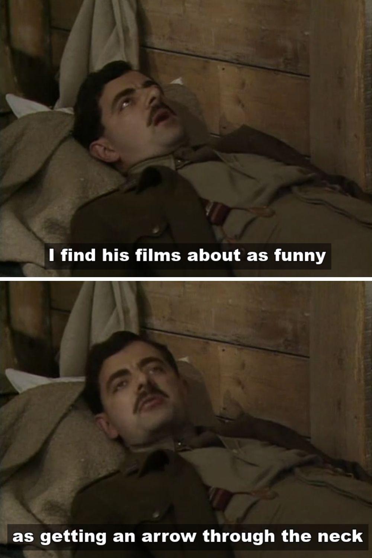 Blackadder talks about Charlie Chaplin