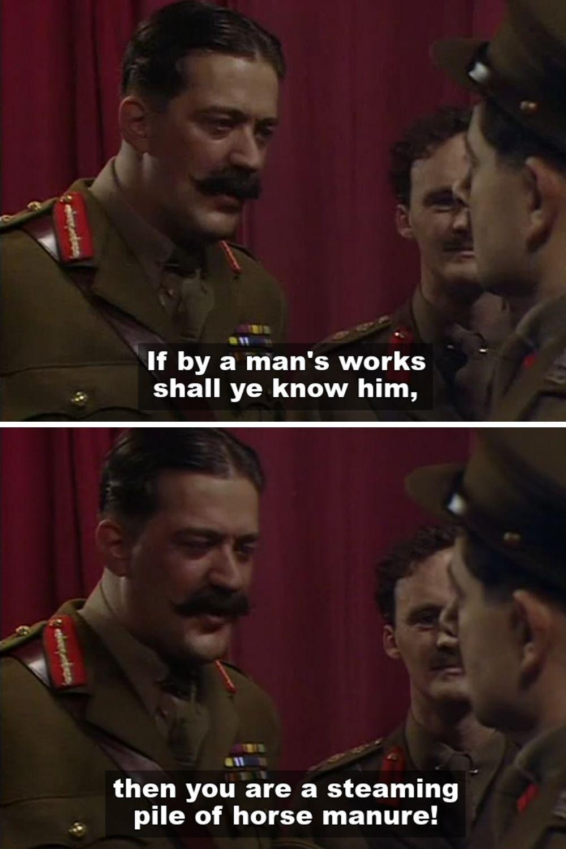 General Melchett (Stephen Fry)