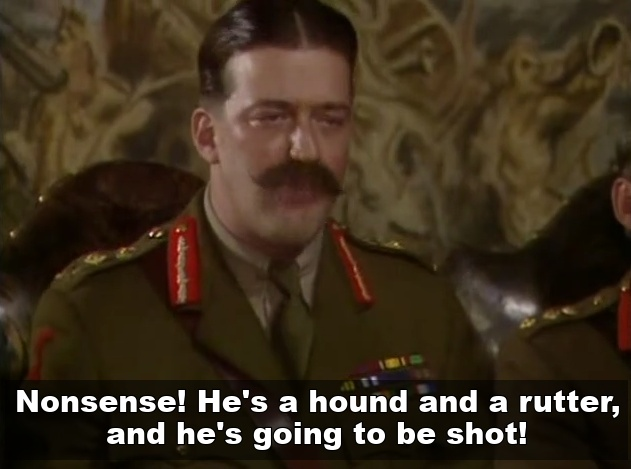 General Melchett Hound and a Rotter