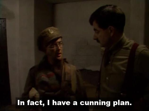 Baldrick has a cunning plan
