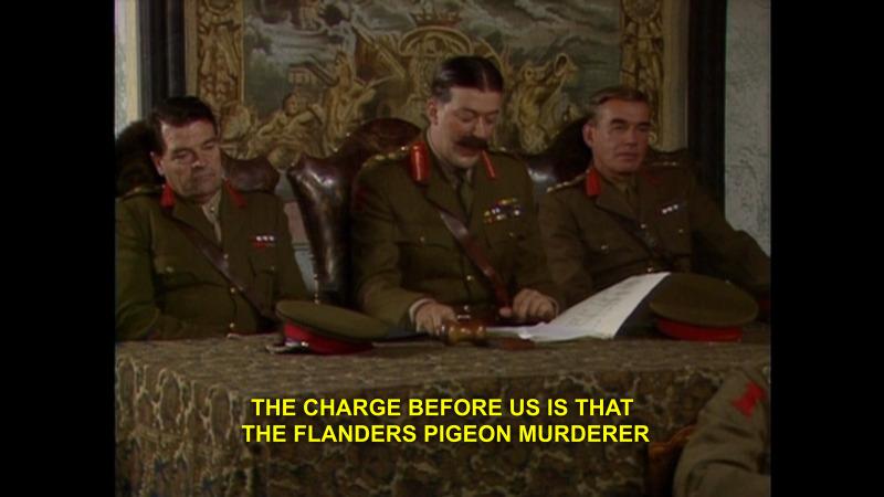 Flanders Pigeon Murderer Blackadder