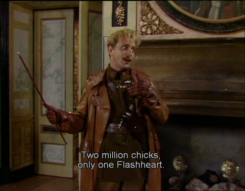 Only one Flashheart Blackadder