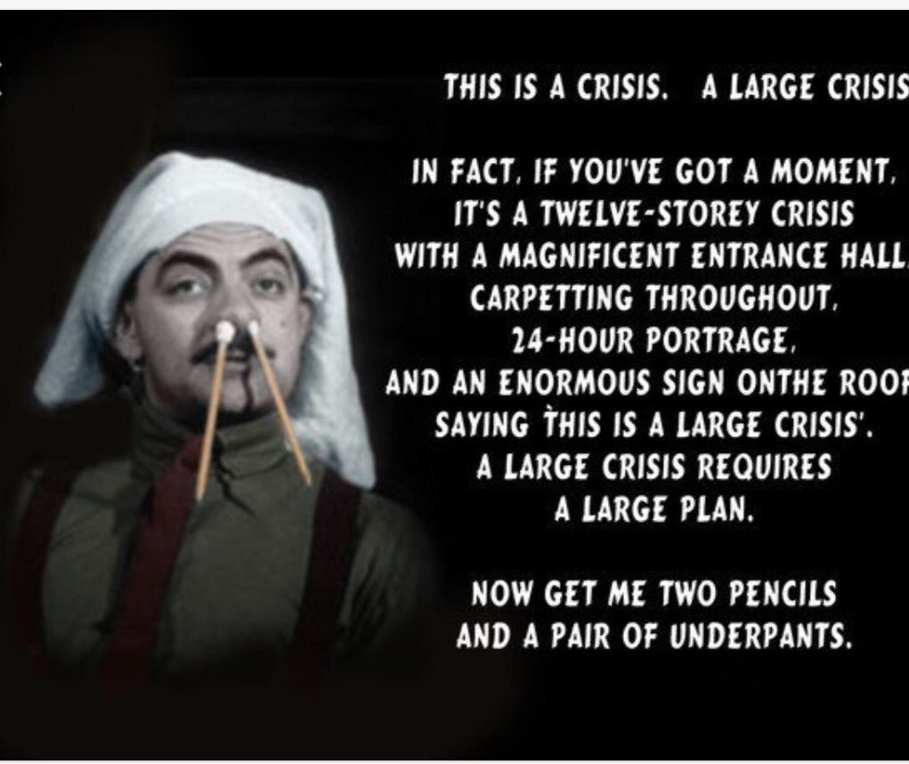 A large crisis Blackadder