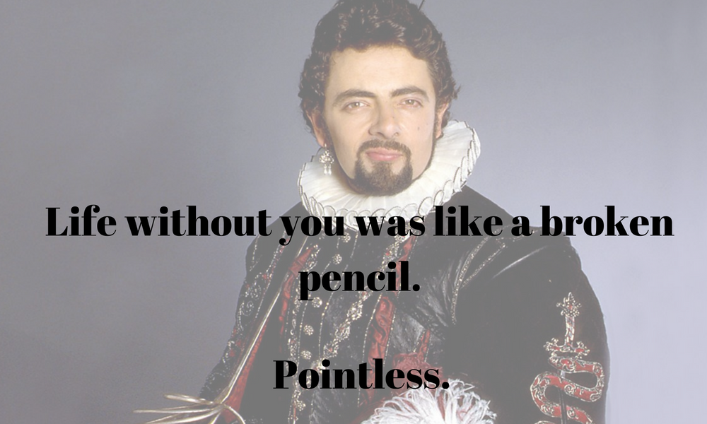 The Most Romantic Line In Blackadder