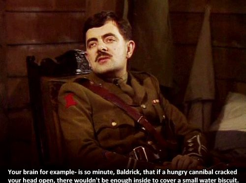 Water Biscuit Blackadder Quote