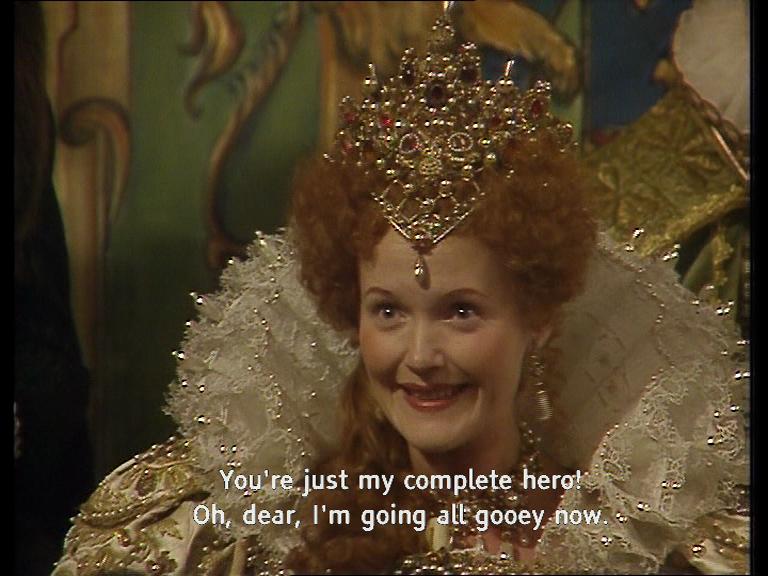 Gooey Queen Elisabeth Blackadder quote