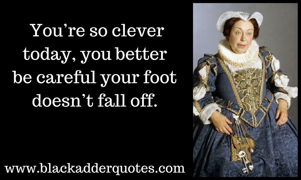 Nursie quote from Blackadder