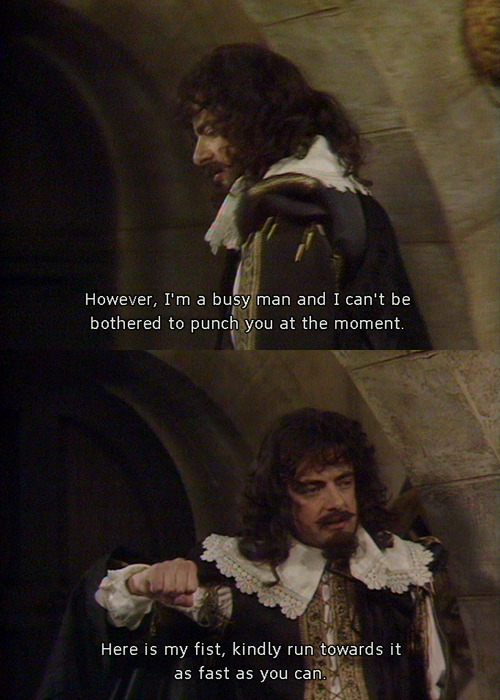 Blackadder quote from the Cavalier Years