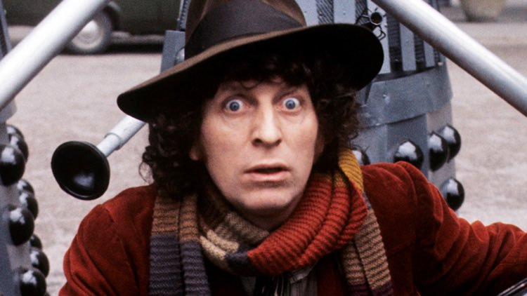 Tom Baker play Captain Rum in Blackadder although is best known for Dr Who