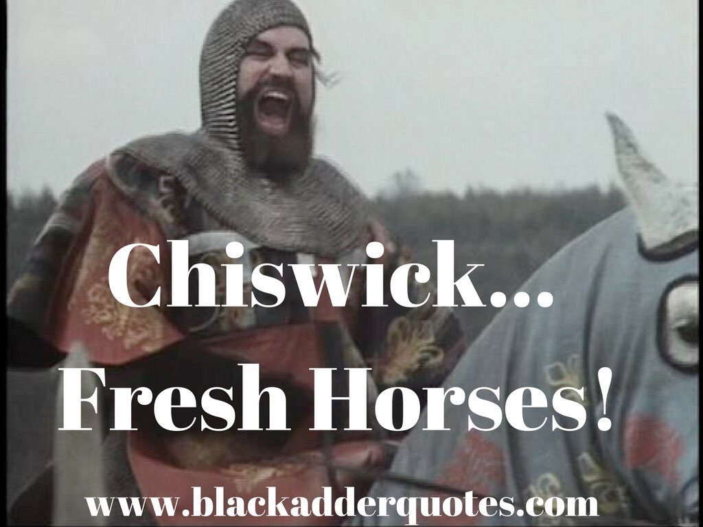 Chiswick fresh horses - Brian Blessed in Blackadder