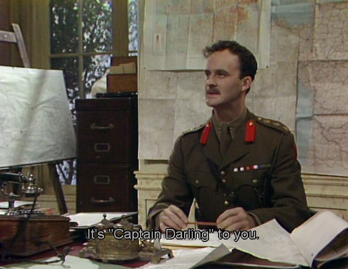 Captain Darling from Blackadder