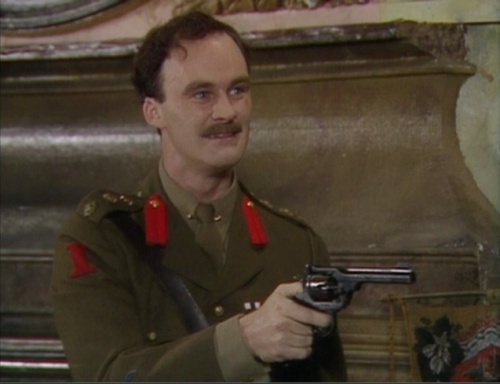 Captain Darling from Blackadder in a rare show of bravery
