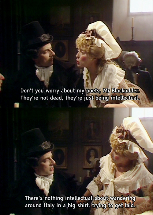 Blackadder Mrs. Miggins coffee shop