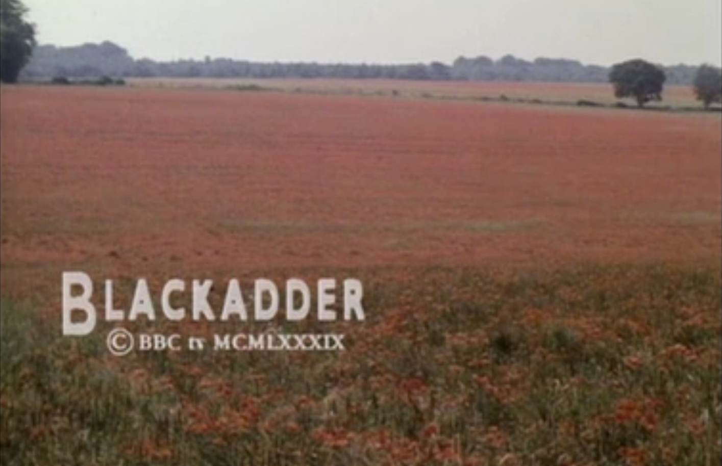 The final scene of Blackadder Goes Forth closing credits