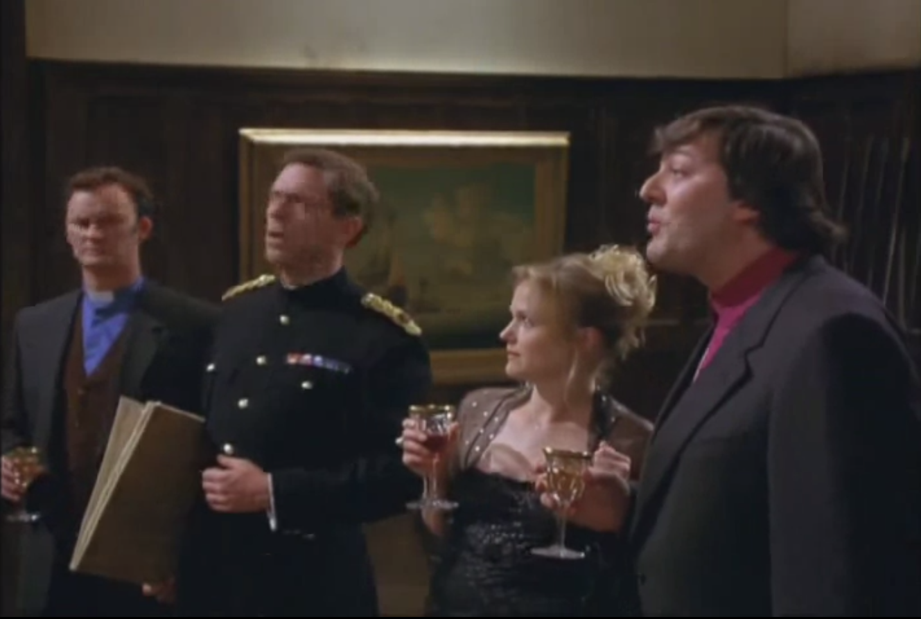 Some of the Blackadder Back and Forth cast included Miranda Richardson, Hugh Laurie and Stephen Fry