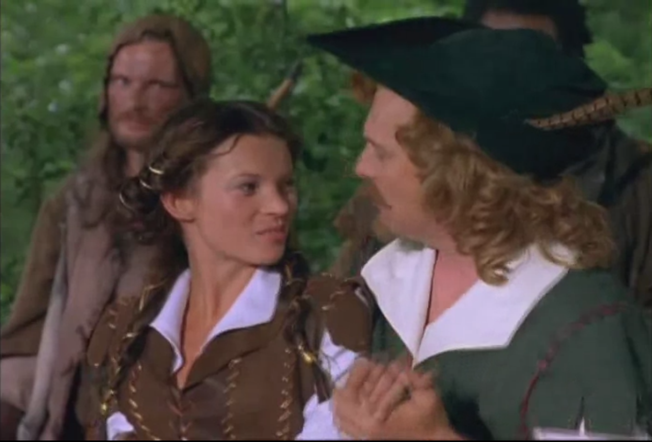The last Rik Mayall Blackadder appearance - As Robin Hood in the Millennium special